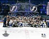 """Tampa Bay Lightning 2020 Stanley Cup Champs Team Celebration 8"""" x 10"""" Photo"""