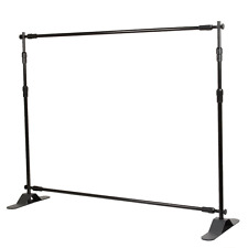 Flexzion Backdrop Stand - Telescopic Banner Stand 8'x8' Step and Repeat Adjustab