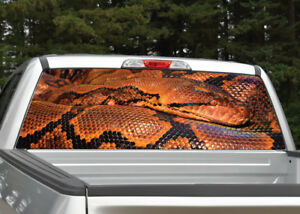Snake Orange Black Reptile Rear Window Decal Graphic for Truck SUV