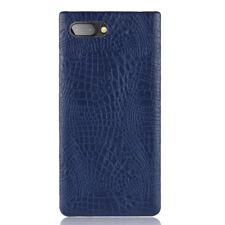 Crocodile Skin PU Leather Hard Cover Case For Blackberry key2 KeyOne Mercury