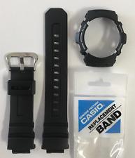 Casio Original G-Shock Band AW-591 AW-590 AWG-100 AWG-101A AW590 Black & Bezel