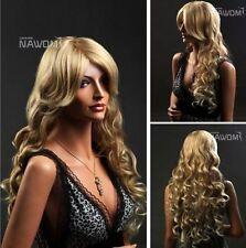 FIXSF204  fancy long curly yellow blonde wigs for women's hair wig