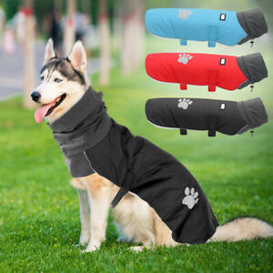 Dog Coats for Large Dogs Winter Waterproof Pet Warm Turtleneck Jacket Pitbull