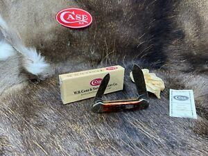 1995 Case Canoe Knife Jigged Bone Handles & Canoe Etch Mint In Box - 14C