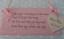Personalised baby girl/boy memorial loss of baby stillborn plaque sign keepsake