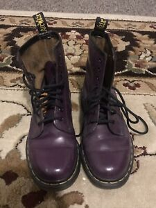 Dr. Martens Patent Leather Purple Made in England sz UK4/US6