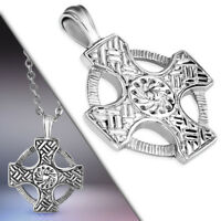 Stainless Steel Celtic Knot Cross Circle Pendant no chain
