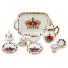 2014 Royal Tea Service Set Reutter Porcelain Dollhouse Miniatures 1:12 Scale