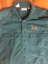 LL Bean Vintage Flannel Chamois Cloth Shirt Mens Large Tall BT USA Deer