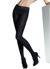 100 Denier Opaque Hipster Tights, Lace Waistband Black Pantyhose, Marilyn Erotic