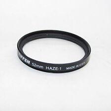Genuine Tiffen Haze-1 52 mm Lens Filter Made in USA S940350/51