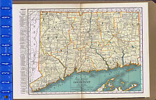 CONNECTICUT - 1932 Color State Map