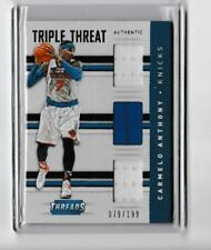 2015-16 Panini Threads Carmelo Anthony Triple Threat Relic #2 79/199