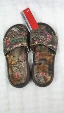 NWT NEW UNDER ARMOUR GIRL CAMO REALTREE 4D FOAM SLIPPER SLIDE SANDAL SHOE SZ 2Y