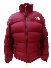 THE NORTH FACE Ladies 700 Series NUPTSE Maroon DOWN JACKET Size Large #4803