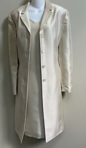 Ann Taylor Occasion  2 Pc Silk Dress & Matching Duster Coat~10/12