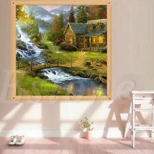 5D DIY Cross Stitch Kit Bridge River Diamonds Embroidery Painting Home Decor