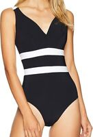 Jets by Jessika Allen Womens Swimwear Black Size 10 Underwire One Piece $199 630