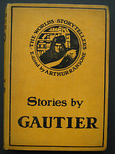 Arthur  Ransome [Editor] - STORIES BY THÉOPHILE GAUTIER (1908) – Vampire Story