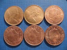 Elizabeth II 2p's 1971 1975 2004 2006 2007 & 2008. High Grades, 6 Coins.