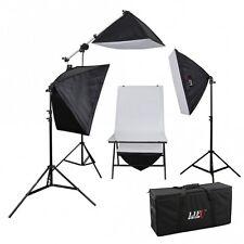 Aufnahmetisch-Set AT-5070-4, 4x150 W mit Galgenstativ Studiotasche Fototisch