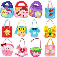 Fantastic Non-woven Cloth Bag Cartoon Handmade DIY Applique Bag Crafts Kids Toy'