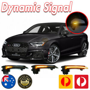 AUDI A3 S3 Rs3 8V 2013-18 Dynamic LED WING MIRROR INDICATOR Repeater Blinker