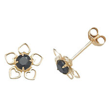 Unbranded 9 Carat Yellow Gold Sapphire Fine Earrings