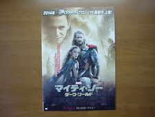 Thor: The Dark World MOVIE FLYER mini poster chirashi ver.2 Japanese