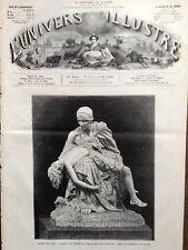 """L'UNIVERS ILLUSTRE 1876 N 1105 SALON DE 1876 """"APRES LA TEMPÊTE """" SARAH BERNARDT"""