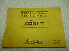 Mitsubishi engine parts catalog model 4D31-T