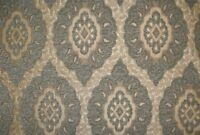 "Upholstery Royalty Oval Chenille Drapery fabric by the yard 57"" Wide"