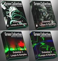 Dubstep Ultimate GREEN Collection ALL Dubstep 1-4 Megapack Bundle Loops Samples
