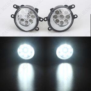 2X 9 LED Fog Light Lamps For TOYOTA ALLION 2 COROLLA AVENSIS ZRT27 ADT27 VERSO