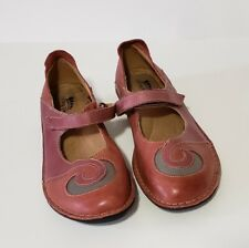 Spring Step Cosmic Multi Color Leather Mary Janes Flats Size 37 EU/6-6.5 US