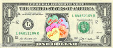 Valentine's Day Conversation Hearts {Color} - Dollar Bill - REAL Money!