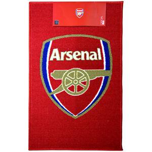 ARSENAL FC CLUB CREST RUG BEDROOM CARPET MAT FLOOR NEW GIFT XMAS 80 X 50 cm