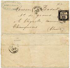 France 1866 timbre taxe 15c angoulême + ovale cachet