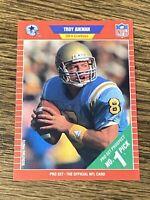Vintage NFL 1989 Pro Set #490 TROY AIKMAN RC Dallas Cowboys QB HOF RARE NrMt/Mt