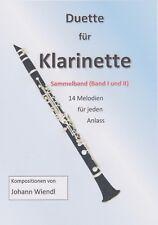Noten Klarinette (Duette) Sammelband (Band I und II) von Johann Wiendl