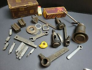 Machinist Tool Lot South Bend Post Tool Holder Armstrong Threading Bit Vintage