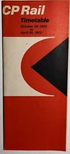 CANADIAN PACIFIC RAILWAY Time Table October 29, 1972