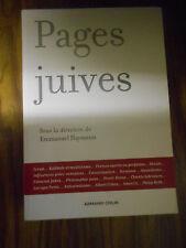Pages juives d'Emmanuel HAYMANN  Armand Colin 2008  Comme neuf  Bonne affaire