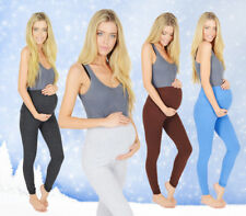 Extra Thick Winter Maternity Leggings Soft Cotton & Fleece Lined All Sizes V1
