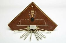 Mens Vintage Tie Rack with Style Chart by Nu-Dell Mfg. Co. 1930's