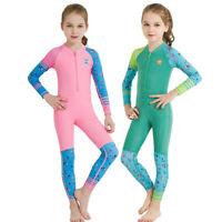 Kids Wetsuit Long Sleeve Scuba Diving Suit Anti UV Quick-dry Swimsuit Rash Guard