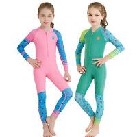 Kids Wetsuit Long Sleeve Scuba Diving Suit Anti UV Quick-dry Swimsuit Rash Guard