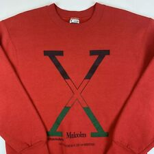 Vintage 90s Malcolm X  Movie 1992 Promo Sweatshirt Mens Medium Warner Bros Rasta