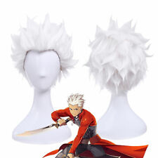 Anime 28cm Short Straight White Fate/stay Night Archer Cosplay Wig ZY90