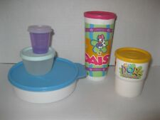 TUPPERWARE  LOT OF LUNCH CONTAINERS Bowl Snack Cup Tumblers DORA ~ DAISY DUCK